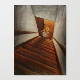 The Old Staircase Canvas Print