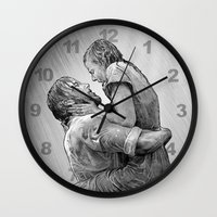 notebook Wall Clocks featuring notebook by BzPortraits