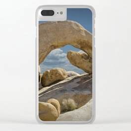 Rock Arch in the Joshua Tree National Park Clear iPhone Case