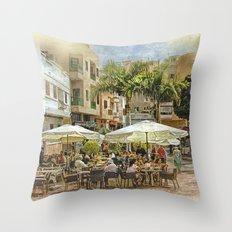 Cafe Veril, Alcala, Tenerife Throw Pillow