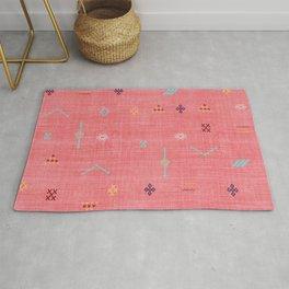 Cactus Silk Pattern in Pink Rug