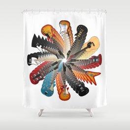 Guitar Spiral Shower Curtain