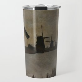 Windmills at Kinderdijk Holland Travel Mug