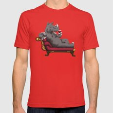 Wineoceros Mens Fitted Tee Red LARGE