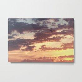 Pastel Summer Sunset Metal Print
