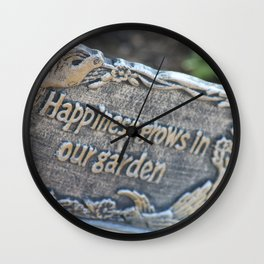 Happiness Grows in Our Garden Wall Clock