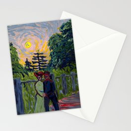 Moonrise: Soldier and Maiden, 1905 - Ernst Ludwig Kirchner Stationery Cards
