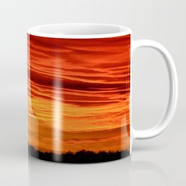 Flame Coloured Sunset Sky Coffee Mug