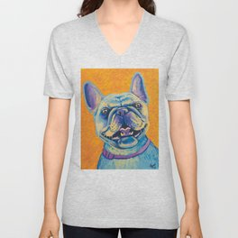 French Bulldog (includes rescue donation!) Unisex V-Neck