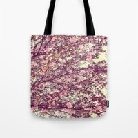 sofa Tote Bags featuring floral sofa by vibeyantlers