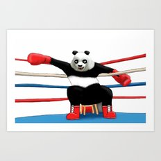 Boxing Panda Art Print