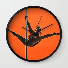 The Split Tease | Pole Dancer Series Wall Clock
