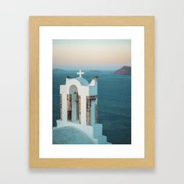 Church in Santorini, Greece Framed Art Print