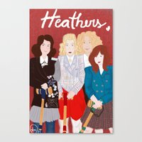 heathers Canvas Prints featuring Heathers by Ana Maia