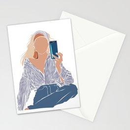 Selfie • Fashion Illustration | Color Block Art Stationery Cards
