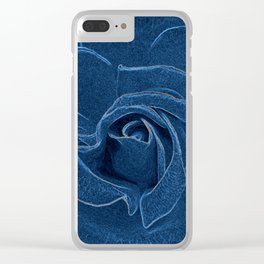velvety blue rose Clear iPhone Case