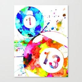 Billiard Balls Canvas Print