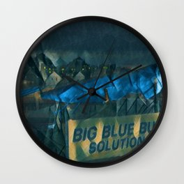 Nibbles Woodaway, Big Blue Bug Termite , Providence, Rhode Island Portrait Wall Clock