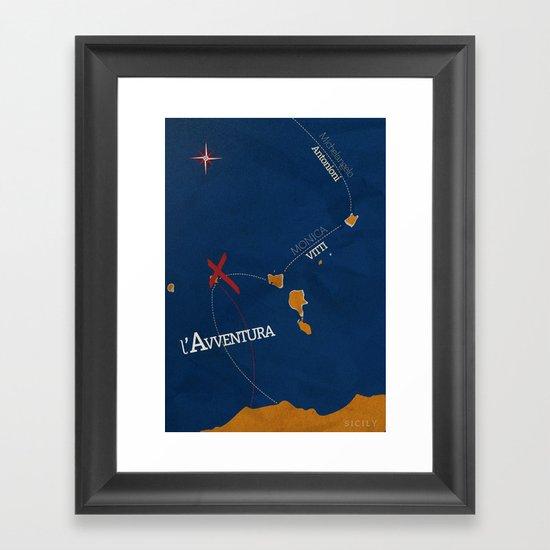 L'avventura, Monica Vitti, Michelangelo Antonioni, Italian cinema, film, Alternative Movie Poster Framed Art Print