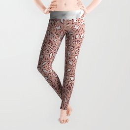 Rose gold mandala marble glitter ombre Leggings