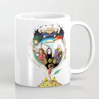 spirited away Mugs featuring Spirited away by Willow