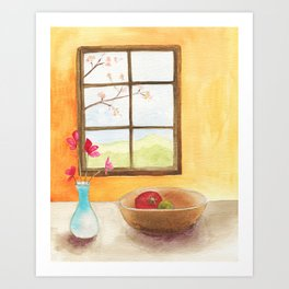 Cheerful Kitchen Art Print