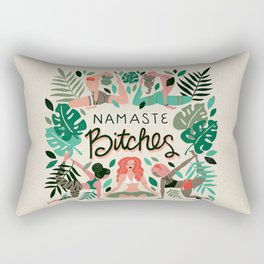 Namaste, Bitches – Green & Red Palette Rectangular Pillow