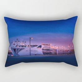 Ship at Night Rectangular Pillow