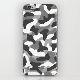 Grey Gray Camo Camouflage iPhone Skin