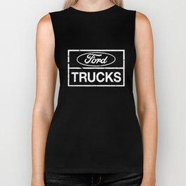 Ford Trucks Officially Licensed Slogans Sayings Statements Men_s trucker Biker Tank