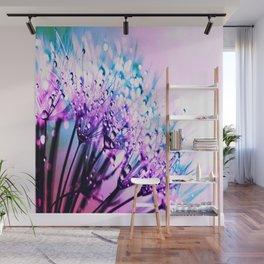 Bubblegum Candy Dandelion Dew Wall Mural