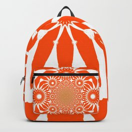 The Modern Flower Orange Backpack