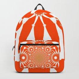 The Modern Flower Orange Backpack