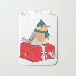 Fat Christmas Robin Bath Mat