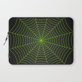 Neon green spider web Laptop Sleeve
