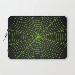 Neon green spider web Laptop Sleeve
