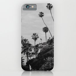 Laguna Beach Black&White | Fine Art Travel Photography iPhone Case