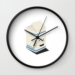 Cute kawaii milk carton Wall Clock