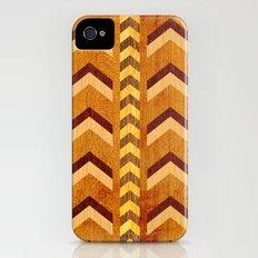 Wood Inlaid Chevrons iPhone (4, 4s) Slim Case