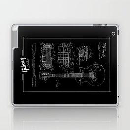 Gibson Les Paul Guitar Patent Drawing 1955 - Blueprint - Music Laptop & iPad Skin