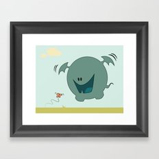 Butterfly Monster Framed Art Print
