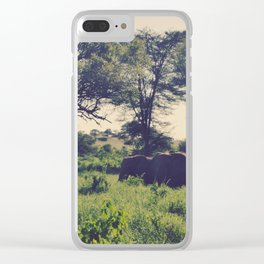 Vintage Africa 09 Clear iPhone Case