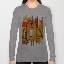 Why is the cat hidden? Long Sleeve T-shirt