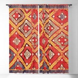 Zili  Antique Turkish Fethiye Flatweave Print Blackout Curtain