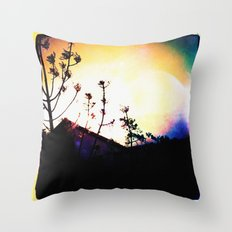 :: above the rooftops Throw Pillow