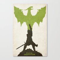 dragon age Canvas Prints featuring Dragon Age: Inquisition V2 by FelixT