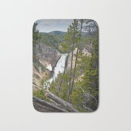 Falls in the Grand Canyon of Yellowstone Bath Mat
