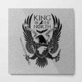 king in the north Metal Print
