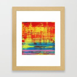Sunny Sunset, Colorful Abstract Art Framed Art Print