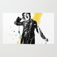 charlie chaplin Area & Throw Rugs featuring charlie chaplin 05 by manish mansinh